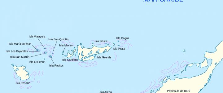 Islas del Rosarios Mapa