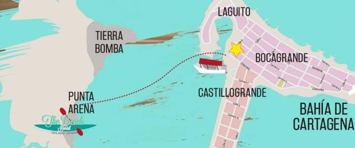Mapa Isla Tierra Bomba